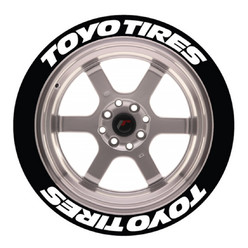 Stickers Toyo Tires, Marquage Pneu Permanent