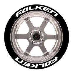 Stickers Falken, Marquage Pneu Permanent