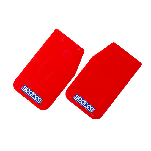 "Bavettes Sparco Rouges ""Mud Flaps"""