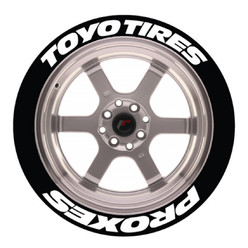Stickers Toyo Tires Proxes, Marquage Pneu Permanent