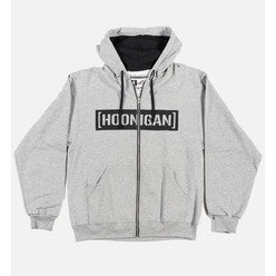 Sweat Zippé à Capuche Hoonigan Censor Bar - Gris
