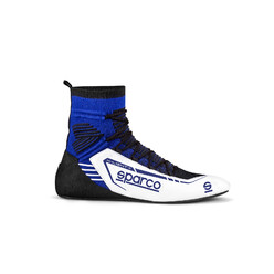 Bottines Sparco X-Light+ Blanches & Bleues (FIA)