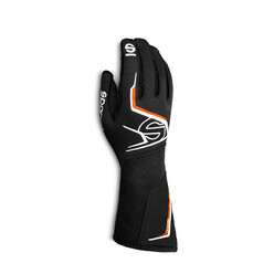 Gants Sparco Tide Noirs & Orange (FIA)