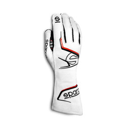Gants Sparco Arrow Blancs & Rouges (FIA)