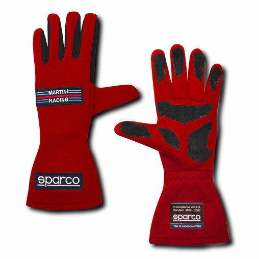 "Gants Sparco Land Classic ""Martini Racing"" - Rouges (FIA)"