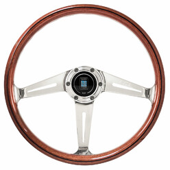 "Volant Nardi Classic ND36 ""Side Spokes"", Bois, Branches Alu"