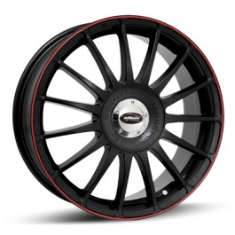 "Team Dynamics Monza RS, 16x7.0"" Noir Mat / Satiné, Liseret Rouge"