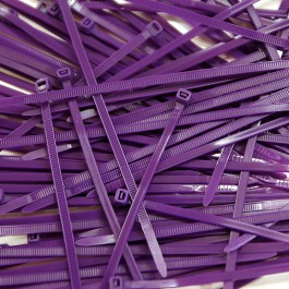 Pack de 100 Colliers Rilsan Violets