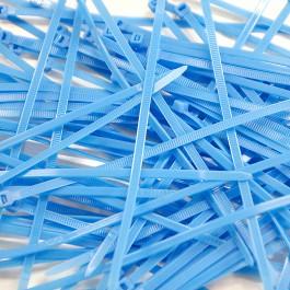 Pack de 100 Colliers Rilsan Bleu Ciel