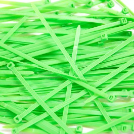 Pack de 100 Colliers Rilsan Vert Fluo