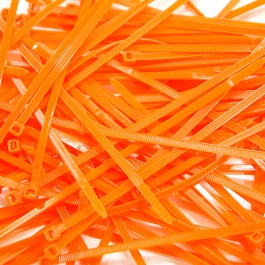 Pack de 100 Colliers Rilsan Orange