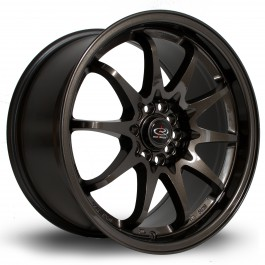 "Rota Fighter 17x9"" 5x100/114.3 ET50, Gunmetal"