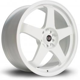 "Rota GTR 18x8.5"" 5x114.3 ET30, Blanc"