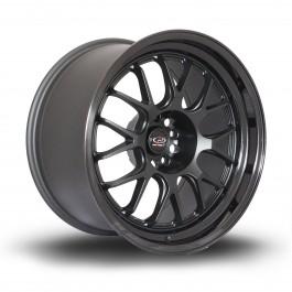 """Rota MXR 18x10"""" 5x114.3 ET12, Noir Mat, Rebord Noir Brillant"""