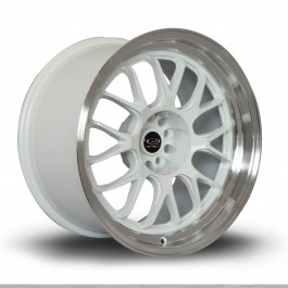 "Rota MXR 18x10"" 5x114.3 ET12, Blanc, Rebord Chromé"