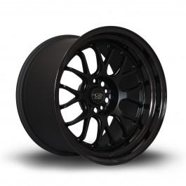 """Rota MXR 18x11"""" 5x114.3 ET8, Noir Mat, Rebord Noir Brillant"""