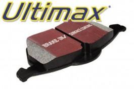 Plaquettes de Frein Avant EBC Ultimax pour Mazda 121 1.3 et 1.8D de 1996 à 2000 (DP1050)