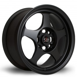"Rota Slipstream 15x7"" 4x100 ET28, Noir Mat / Satiné"