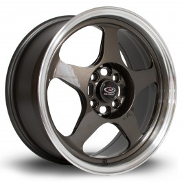 "Rota Slipstream 16x7"" 4x100 ET40, Gunmetal, Rebord Chromé"