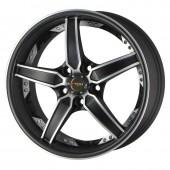 """Drag Wheels DR-39 17x8"""" 5x114.3 ET47, Noir / Brillant"""