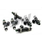 Injecteurs Deatschwerks 1000cc pour Toyota Supra MK4 (2JZ-GTE, lot de 6, top feed 11 mm, haute imp.)