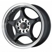 """Drag Wheels DR-17 15x7"""" 5x100/114.3 ET40, Noir / Brillant"""