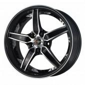 """Drag Wheels DR-39 17x8"""" 5x114.3 ET35, Noir / Brillant"""