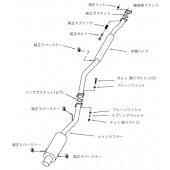"""Ligne d'Echappement HKS """"Silent Hi-Power"""" pour Subaru Impreza GC8 (92-00)"""