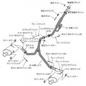 """Ligne d'Echappement HKS """"Legamax"""" pour Subaru Legacy B4 BM9 (09-12, EJ25 Atmo)"""