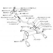 """Ligne d'Echappement HKS """"Legamax"""" pour Suzuki Swift Sport ZC32S"""