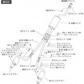 """Ligne d'Echappement HKS """"Legal"""" pour Toyota Aristo JZS161 (2JZ-GTE)"""