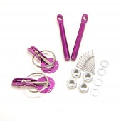 Attaches Capot Violettes en Alu