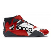 Bottines Sparco Apex RB-7 - Rouges & Blanches (FIA)