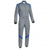 Combinaison Sparco Victory RS-7 - Grise & Bleue (FIA)
