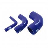 Réducteur Coudé 90° Silicone 13-16 à 102-127 mm - Bleu/Noir