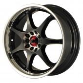 """Drag Wheels DR-51 17x7"""" 4x100/114.3 ET40, Noir / Brillant"""