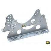 Kit Fixations Latérales Universelles OMP en Aluminium pour Siège Baquet (FIA)
