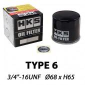 "Filtre à Huile HKS Type 6 | 3/4""-16 UNF (Suzuki Swift Sport, Kei Cars Toyota, Subaru, Daihatsu...)"