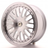 "Japan Racing JR-10 18x8.5"" (4 & 5 trous - sur mesure) ET20-45, Gris Argenté / Poli"