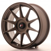 "Japan Racing JR-11 17x7.25"" (4 & 5 trous - sur mesure) ET35, Bronze"