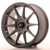 "Japan Racing JR-11 17x7.25"" (4 & 5 trous - sur mesure) ET35, Gunmetal"
