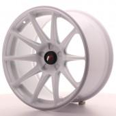 """Japan Racing JR-11 Extreme Concave 18x9.5"""" (5 trous - sur mesure) ET20, Blanc"""