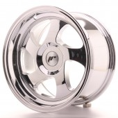 "Japan Racing JR-15 15x8"" (4 & 5 trous - sur mesure) ET20, Chrome / Titane"