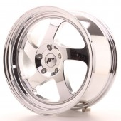"Japan Racing JR-15 17x8"" (4 & 5 trous - sur mesure) ET35, Chrome / Titane"