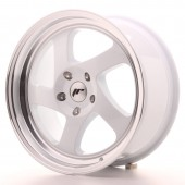 "Japan Racing JR-15 17x8"" (4 & 5 trous - sur mesure) ET35, Blanc"