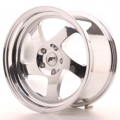"Japan Racing JR-15 17x9"" (4 & 5 trous - sur mesure) ET25, Chrome / Titane"