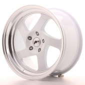 "Japan Racing JR-15 17x9"" ET25, Blanc (Tout Entraxe)"