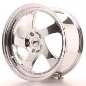 "Japan Racing JR-15 18x8.5"" (4 & 5 trous - sur mesure) ET30, Chrome / Titane"