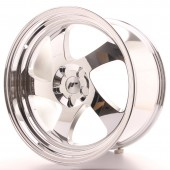"Japan Racing JR-15 19x10"" (4 & 5 trous - sur mesure) ET20, Chrome / Titane"