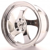 "Japan Racing JR-15 19x8.5"" (5 trous - sur mesure) ET30, Chrome / Titane"